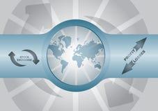 Diagrammes d'échange courant Image stock