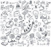 Diagrammes de griffonnage de main illustration de vecteur