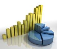 Diagrammes de rendement financier [concept d'affaires] Photos libres de droits