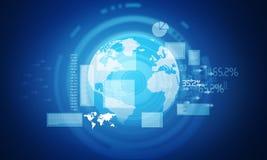 Diagrammes et graphiques financiers Photographie stock libre de droits