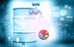 Diagrammes et graphiques financiers Images libres de droits