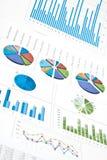 Diagrammes et tableaux Image stock