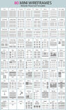 diagrammes et wireframes de déroulement des opérations de site Web Photographie stock
