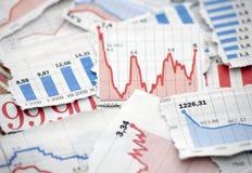Diagrammes financiers images libres de droits