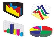 Diagrammes graphiques Image libre de droits
