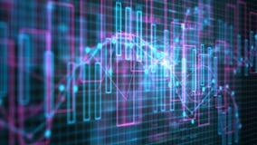 diagrammes 4K et figures financiers illustration de vecteur