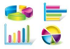 Diagrammes lustrés illustration stock
