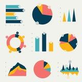 Diagrammes plats, graphiques illustration stock