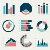 Diagrammes plats, graphiques Images libres de droits