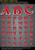 diagrammet letters stil Arkivfoto
