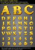 diagrammet letters stil Royaltyfri Fotografi