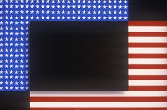 Diagrammet planlade amerikanska flaggan, Förenta staterna Royaltyfria Foton