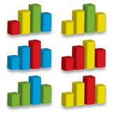 Diagrammgeschenk des Diagramms 3D Stockfotografie