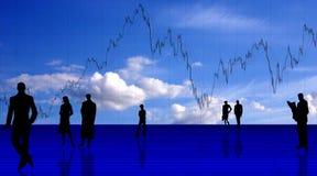 Diagrammhintergrund mit Leuten Lizenzfreie Stockfotografie