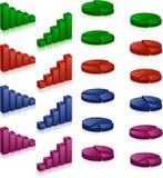 diagrammi 3D Immagini Stock Libere da Diritti