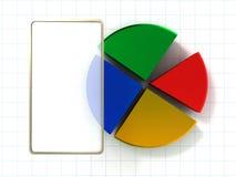 diagrammi 3d Fotografie Stock