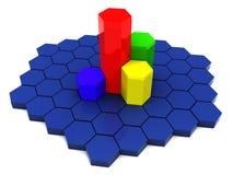 diagrammi 3d Fotografia Stock Libera da Diritti