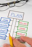 Diagrammi & grafici di affari Fotografia Stock