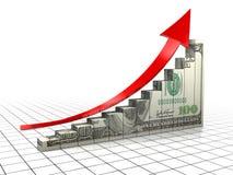 Diagrammi del dollaro Fotografia Stock