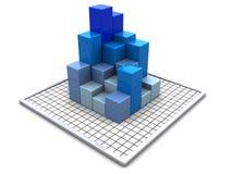 Diagrammi di affari Fotografia Stock
