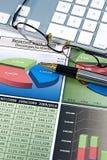 Diagrammi di affari Immagini Stock