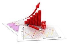 Diagrammi di affari illustrazione vettoriale