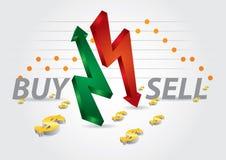 Diagrammi di borsa valori Immagine Stock