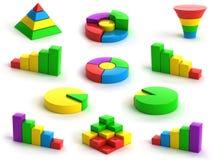 Diagrammi e grafici Immagini Stock