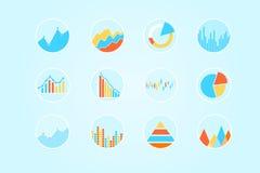 Diagrammi e grafici Fotografia Stock Libera da Diritti
