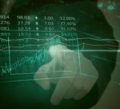 Diagrammi e grafici finanziari Fotografie Stock Libere da Diritti