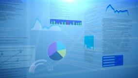 Diagrammi e grafici finanziari Astrazione Fotografia Stock Libera da Diritti