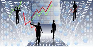 Diagrammi finanziari Fotografia Stock Libera da Diritti