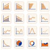 Diagrammknöpfe Stockbilder