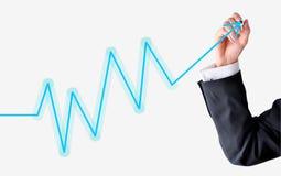 Diagrammschwankungen Lizenzfreie Stockfotos