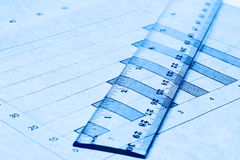 Diagrammspaltezeile Skala Lizenzfreies Stockbild