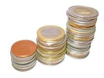 Diagrammwachstum finanziert Aufspeicherung Stockbilder