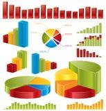 diagrams статистик Стоковое Изображение