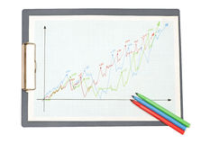 Diagrams, charts and numbers. Stock Photos