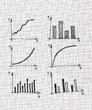 Diagrams and Charts and other infographics drawing Stock Image