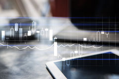 Diagrams and graphs. Business strategy, data analysis technology concept. Royalty Free Stock Photography