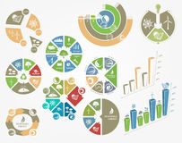 Diagrams and graphs the concept of ecology and renewable energy Stock Photography
