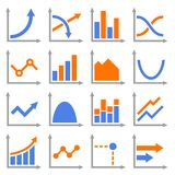 Diagrams and Graphs Icons Set. Vector Stock Photos