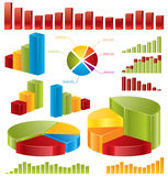 Diagrams, statistics. Diagrams, set of glossy  icons for your business reports Stock Image