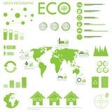 Diagramsamling för ekologi info Royaltyfria Foton