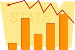 diagramstatistik Fotografering för Bildbyråer