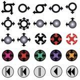 diagramsymboler Royaltyfri Foto