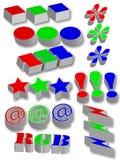 diagramsymboler Fotografering för Bildbyråer