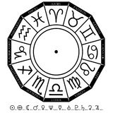 diagramzodiac royaltyfria foton