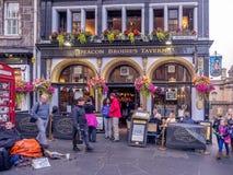Diakon Brodie-` s königliche Meile, Edinburgh Schottland stockbilder