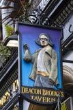 Diakon Brodies-Taverne in Edinburgh lizenzfreies stockbild